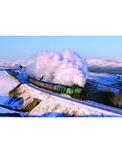 Christmas Card: Steam in the snow - 61306 & 35018 (pack of 12)