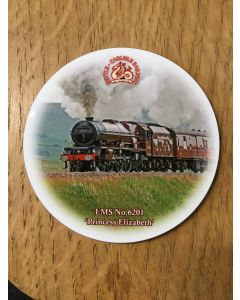 Coasters - round - No. 6201 Princess Elizabeth
